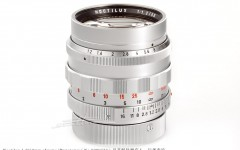 [徕卡博物馆]徕卡Noctilux 1.2/50mm镀铬原型镜(No.0000733)