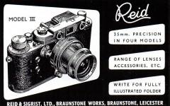 资料 | Reid相机,英国仿徕卡相机