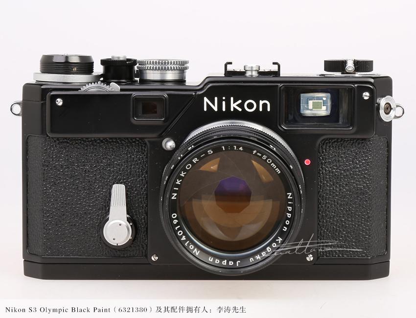 [徕卡博物馆]黑漆Nikon S3奥林匹克纪念版(No.6321380)相机-行者李涛