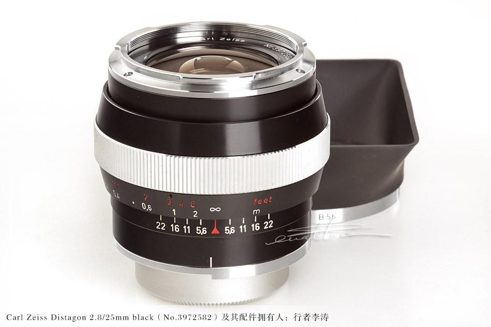 [徕卡博物馆]卡尔蔡司Carl Zeiss Distagon 2.8/25mm black(No.3972582)-行者李涛