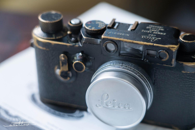 徕卡黑漆Ⅲg '3-Crowns'相机(no.988013)-行者李涛