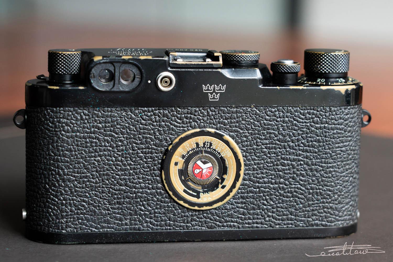 徕卡黑漆Ⅲg '3-Crowns'相机(no.987949)-行者李涛