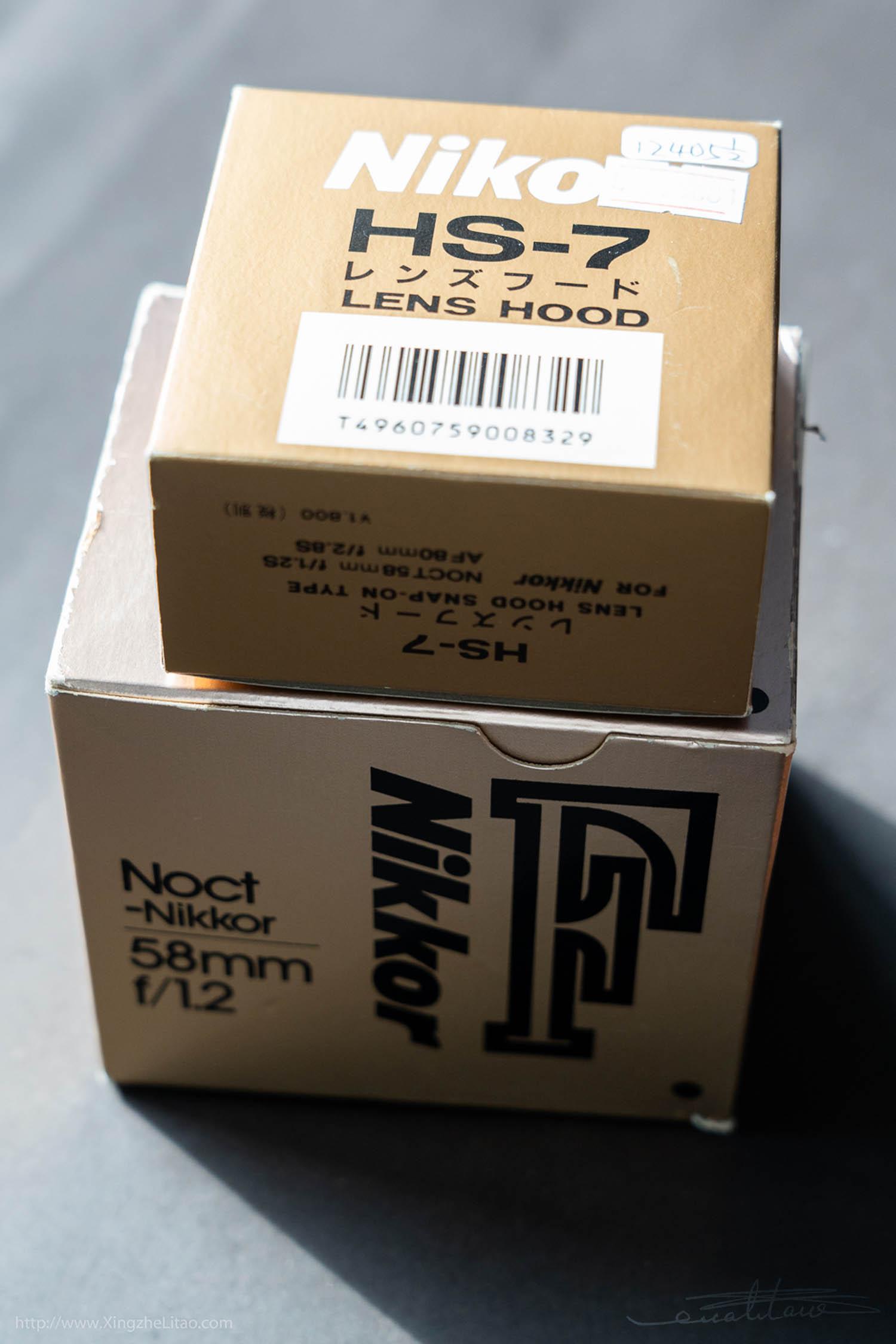 尼康镜头Noct-Nikkor 1.2/58mm (No.193434)-行者李涛